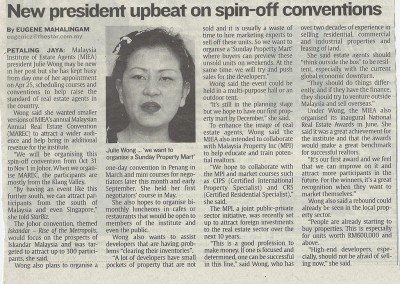 JULIE WONG IN THE STAR NEWSPAPER