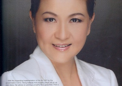 JULIE WONG IN LIVE IN PROPERTY & HOME DECOR MEGAZINE