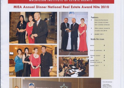 JULIE WONG AT MIEA ANNUAL DINNER NATIONAL REAL ESTATE AWARD NITE 2010