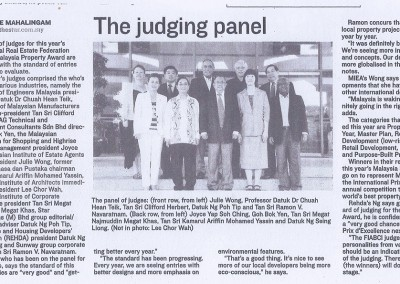 JULIE WONG ON THE JUDGING PANEL OF FIABCI